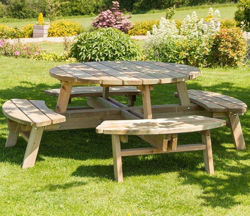 Zest Rose Round Picnic Table Ireland