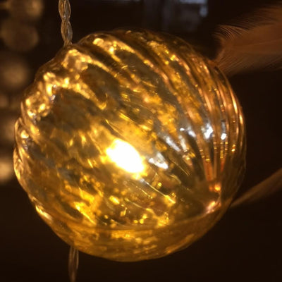 Lumineo LED Glass Bauble String Light - Gold / Warm White (10 lights)