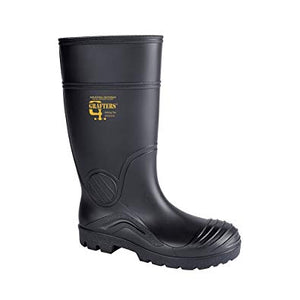 Grafters Steel Toe Wellington Black