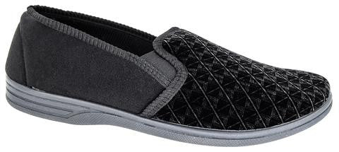 Zedzz Black Velour Slipper MS466A €20.00