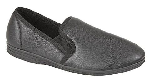 Zedzz Black Pu Slipper MS499A