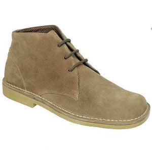 Roamers M378BS Wide Fit Suede Desert Boot
