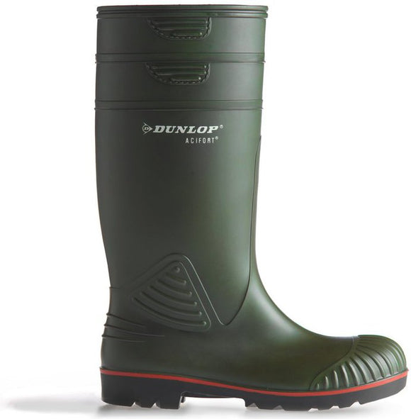 Dunlop Acifort Dark Green Steel Toe Wellington W138