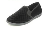 Zedzz Black Velour Slipper MS466A