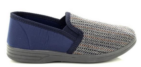 Zedzz MS219C Navy Herringbone Slipper
