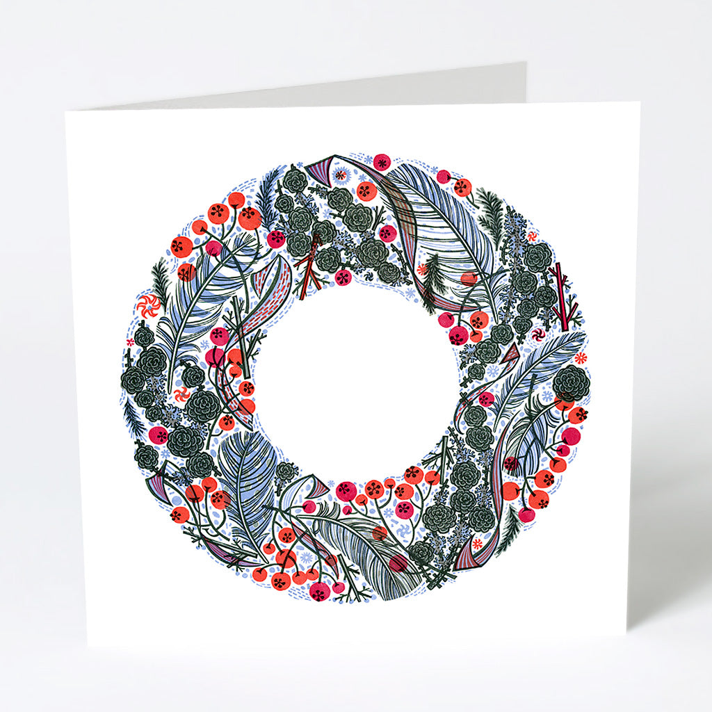 Larch and Berry Christmas Card - Angie Lewin