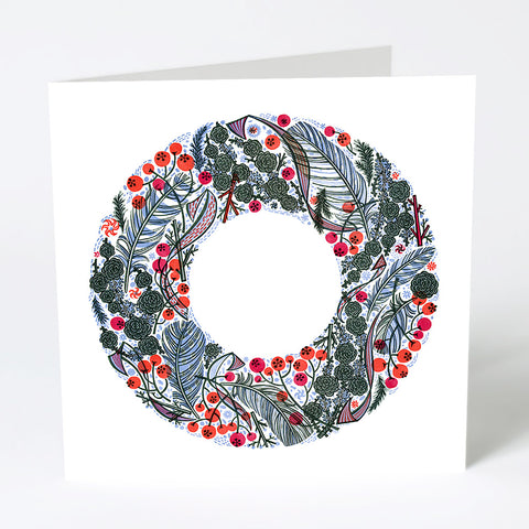 Larch and Berry Christmas Card