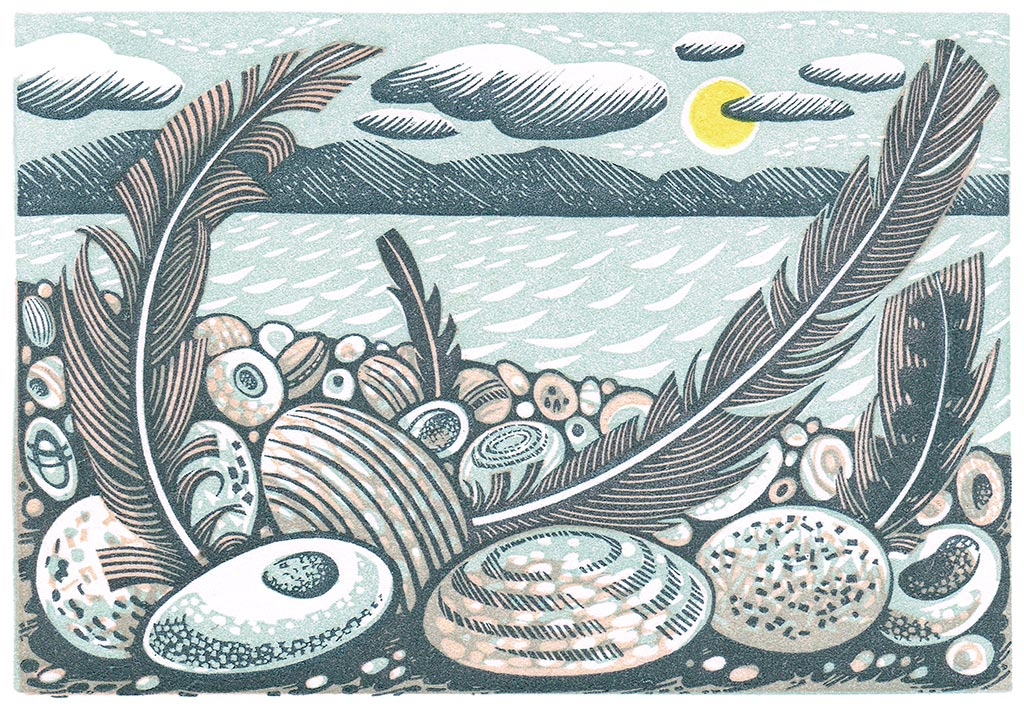 Tideline Feathers - Angie Lewin