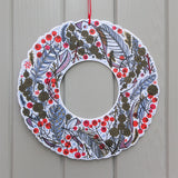 A Winter Wreath - Angie Lewin