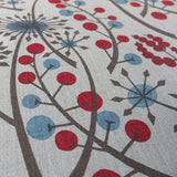 Hedgerow - screen printed fabric for St. Jude's - by Angie Lewin - blue/red