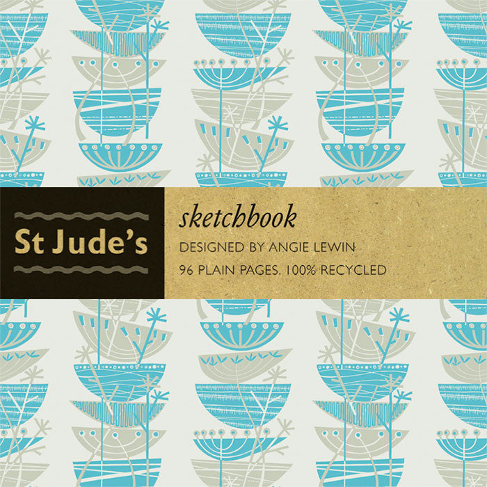 Clifftop sketchbook for St. Jude's - designed by Angie Lewin