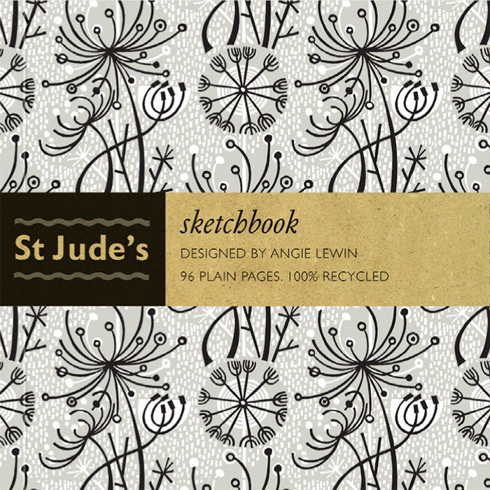 Dandelion One sketchbook for St. Jude's - designed by Angie Lewin