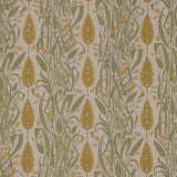 Angie Lewin - Meadow's Edge fabric for St Jude's - green/mustard