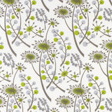 Hedgerow - screen printed fabric for St. Jude's - by Angie Lewin - grey/green