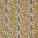 Angie Lewin - Meadow's Edge fabric for St Jude's - mustard/dawn grey