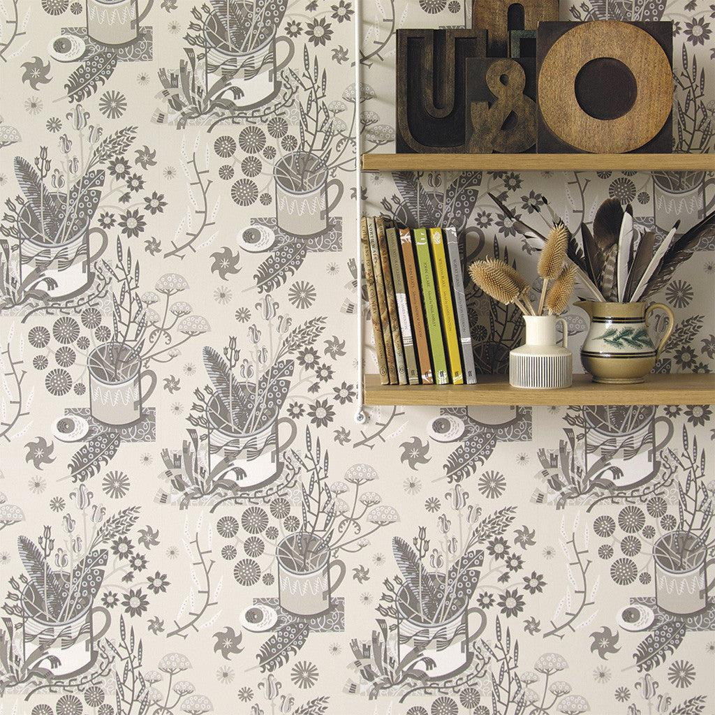 Angie Lewin's Nature Table wallpaper for St Jude's