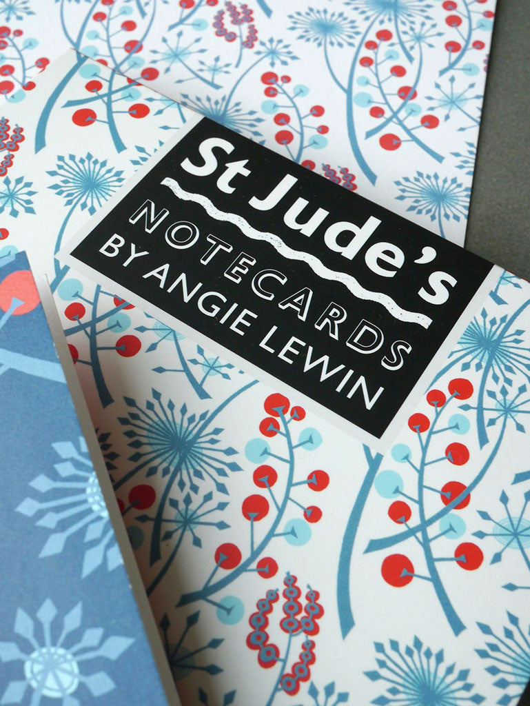 St. Jude's notecards - designed by Angie Lewin