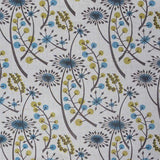 Hedgerow - screen printed fabric for St. Jude's - by Angie Lewin - olive/blue