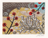 Seaweed, Red Berries - Angie Lewin