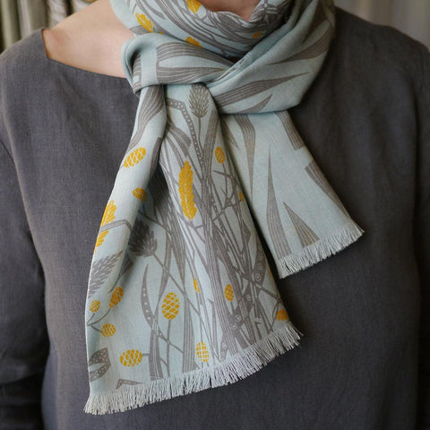 A Natural Line wool/silk scarf