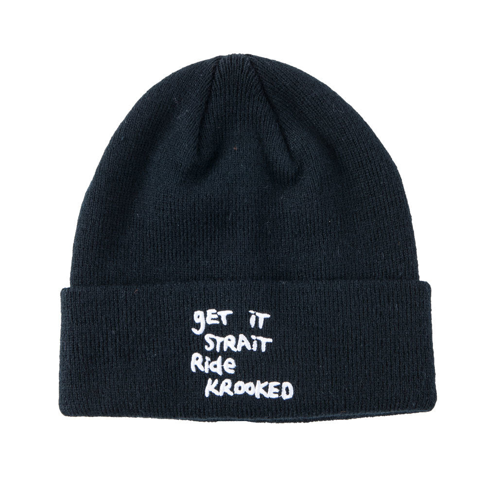 Krooked Get it Strait Beanie - Black
