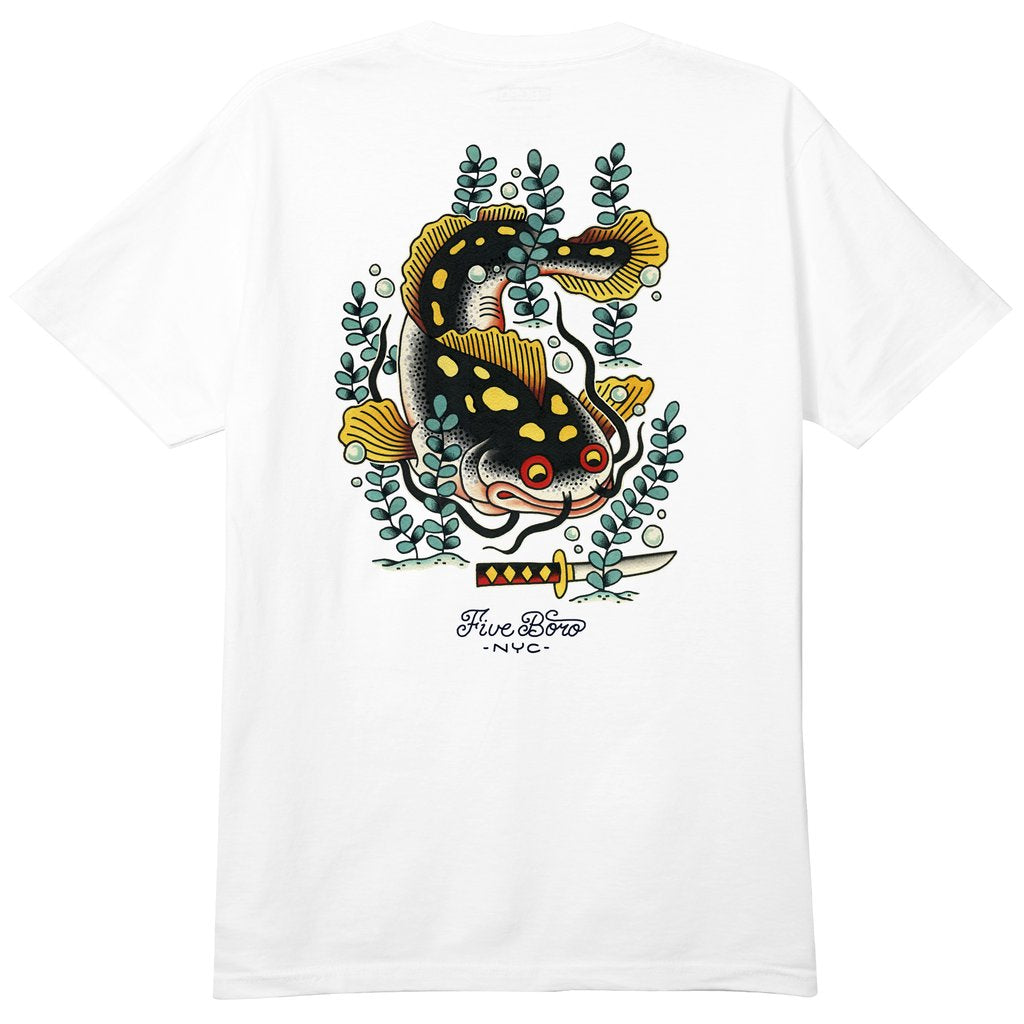 5Boro Catfish Tee - White