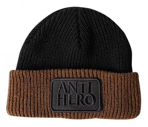 Antihero Reserve Patch Beanie - Black/Brown