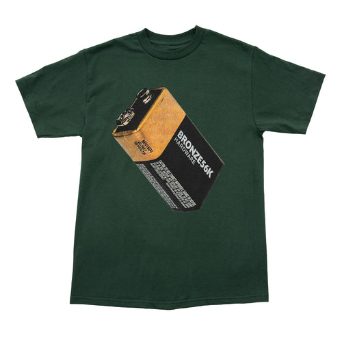 Bronze 56k Battery Tee - Forrest Green