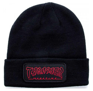 Thrasher China Banks Patch Beanie - Black/Red