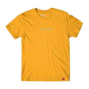 Chocolate Ribbon Embroidered Tee - Gold