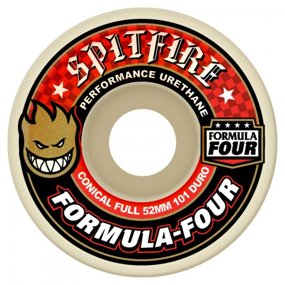 Spitfire Formula Four Conical Full 101d Wheels - 52mm