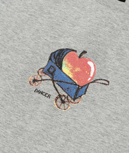 Dancer Baby Apple Tee - Heather Grey