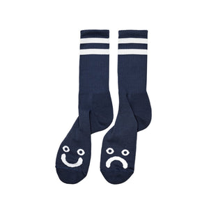Polar Skate Co Happy Sad Socks - Navy