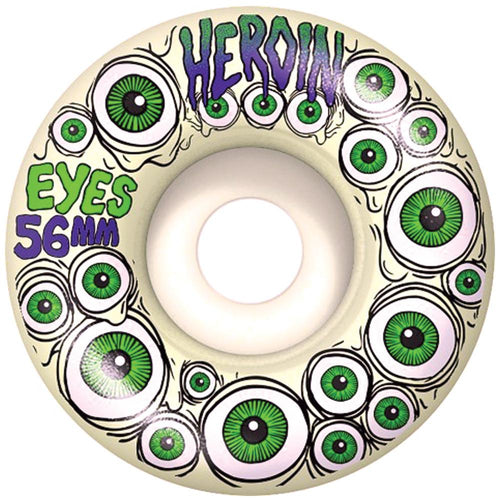 Heroin Glow in the Dark Eyes Wheels - 56mm