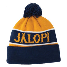 Load image into Gallery viewer, Antihero Jalopi Skate Co Beanie - Navy/Gold