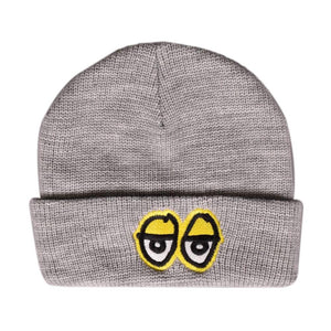 Krooked Eyes Cuffed Beanie - Heather/Yellow