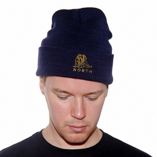 North Zodiac Beanie - Navy/Gold