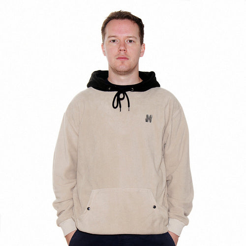North N Logo Fleece Hoodie - Sand/Black