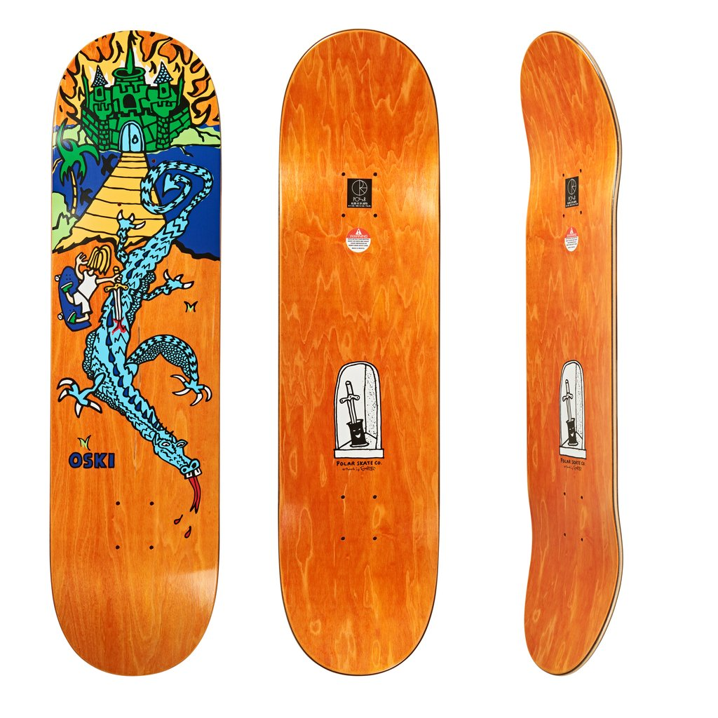 Polar Skate Co Oski Castle Hood 2 Deck - 8.25