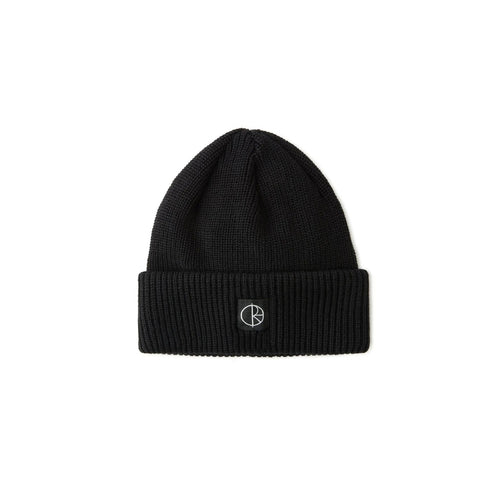 Polar Skate Co Double Fold Merino Beanie - Black