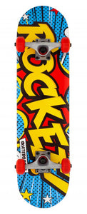 Rocket Popart Mini Complete Skateboard - 7.5""