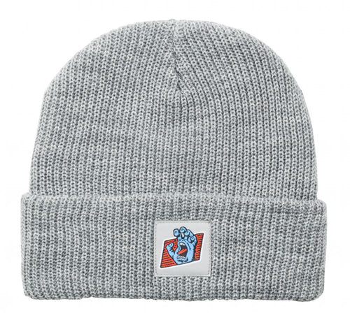 Santa Cruz Screaming Hand Work Beanie - Heather
