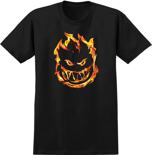 Spitfire Flaming Bighead Tee - Black
