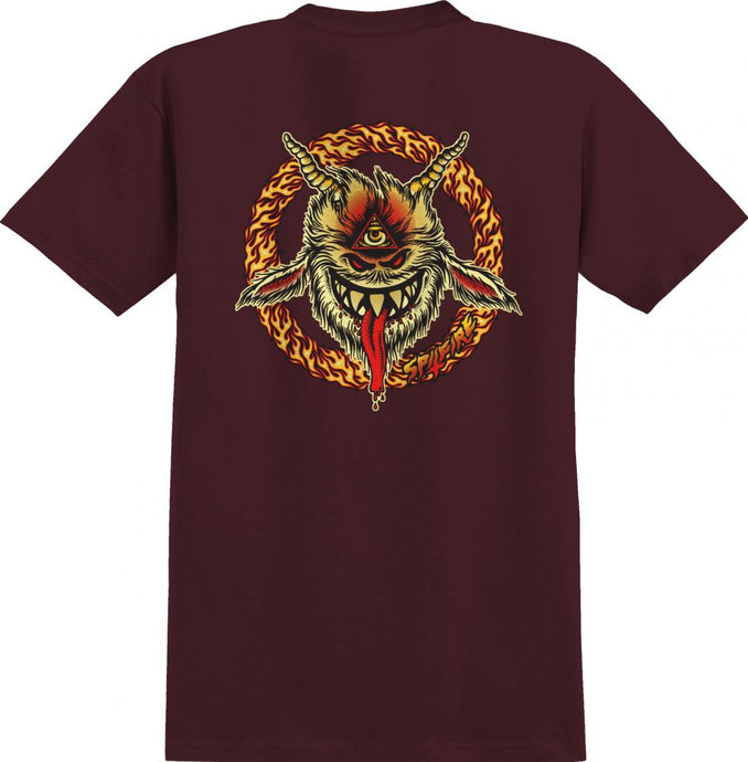Spitfire Touch of Satan Tee - Burgundy