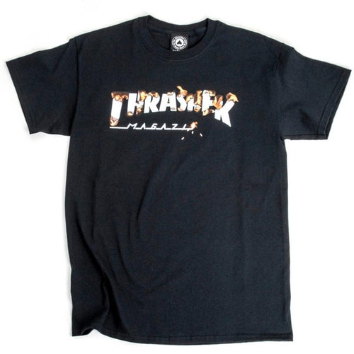 Thrasher Intro Burner Tee - Black