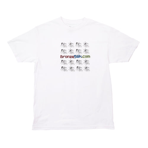 Bronze 56k Mondays Tee - White