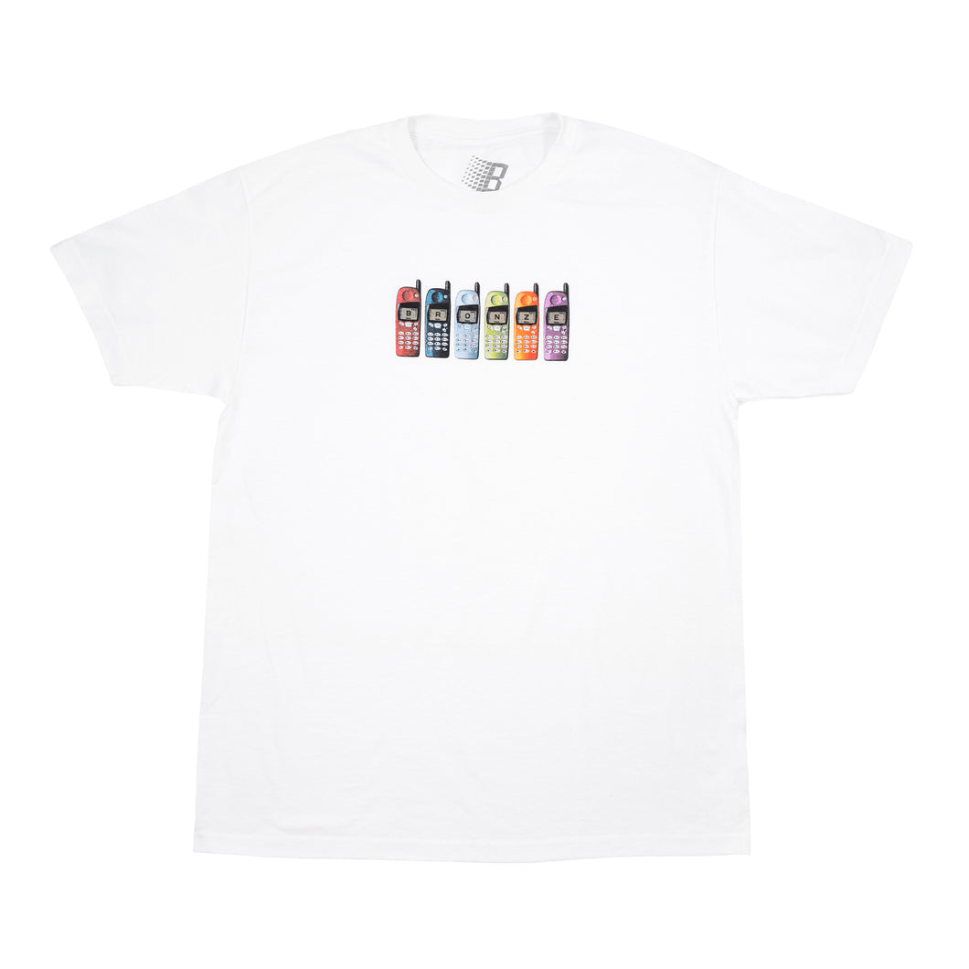 Bronze 56k Burner Phone Tee - White