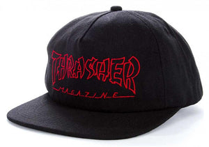 Thrasher China Banks Snapback Cap - Black/Red