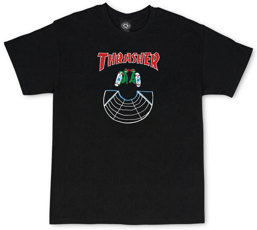 Thrasher Doubles Tee - Black