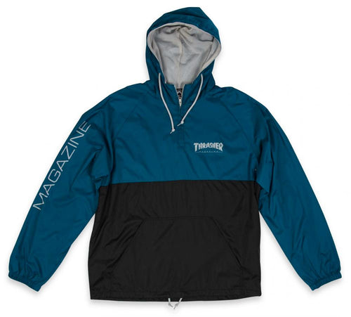 Thrasher Mag Logo Anorak - Navy/Black/Grey